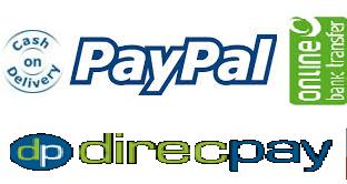 INR- Direcpay, Netbanking; US$ - Paypal